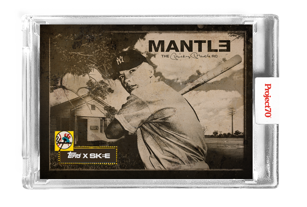 Topps Project70® Card 216 – 1952 Mickey Mantle by DJ Skee